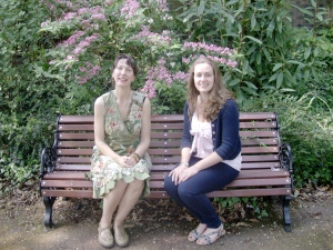 Fiona & Becky enjoying the beautiful gardens near the Live & Local office