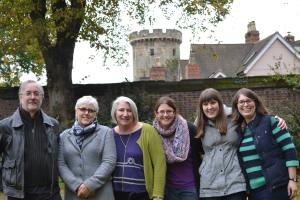 John, Sally, Frances, Kirsty, Rosalind and Sarah