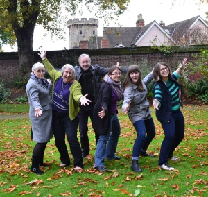 Sally, Frances, John, Kirsty, Rosalind and Sarah
