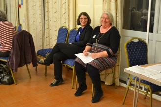 Former Marketing & Communications Manager Sarah Benn with Derbyshire and Staffordshire Fieldworker Frances Newbury