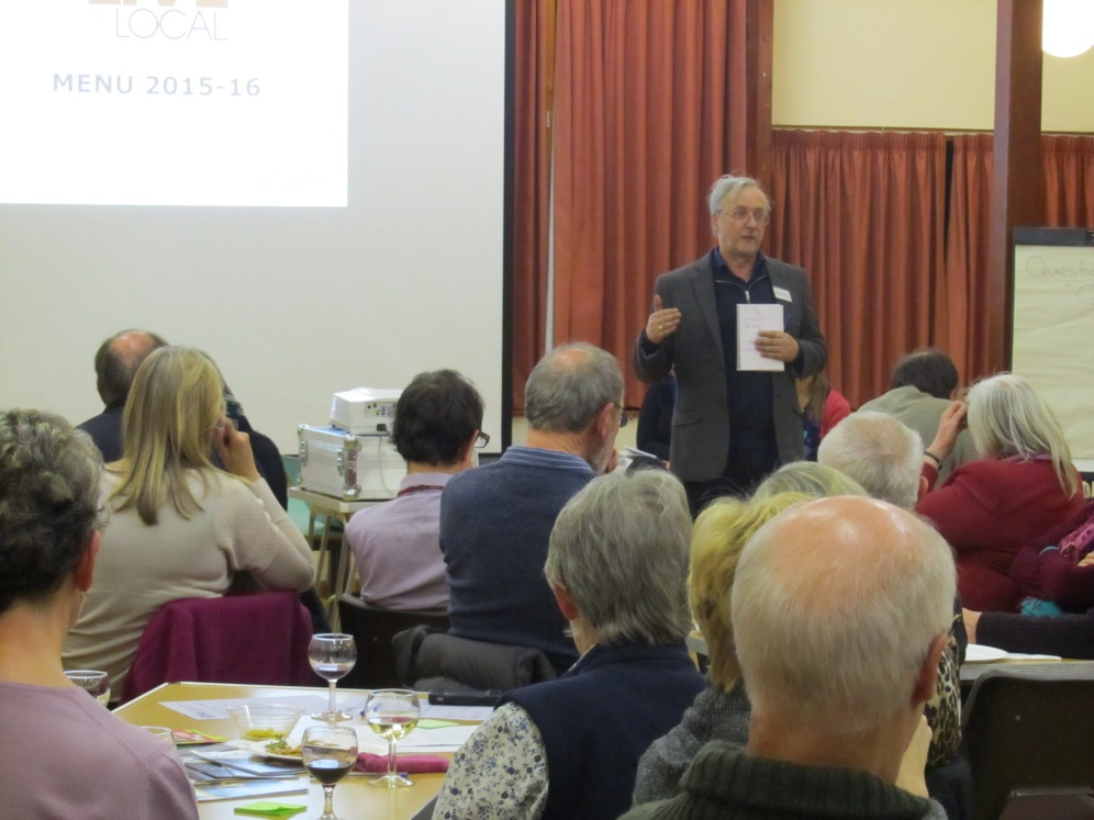 John giving his presentation at Great Witley Village Hall