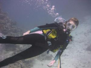 Eleanor diving in the Red Sea, Egypt