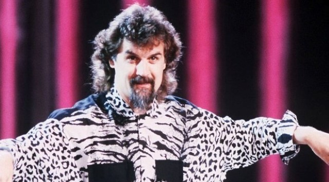 Billy Connolly performing as a younger man.